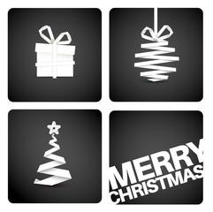 Simple vector original christmas new year card