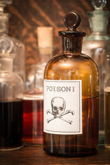 Bottles with poison label