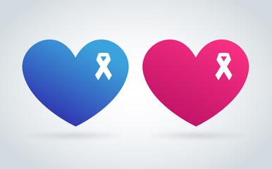 Stop cancer medical logo icon concept