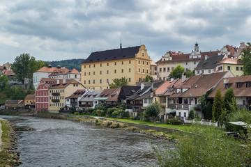 Vltava river in Cesky Krumlov, Czech republic