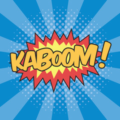 KABOOM! Wording Sound Effect for Comic Speech Bubble