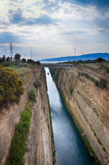 Corinth channel, Greece