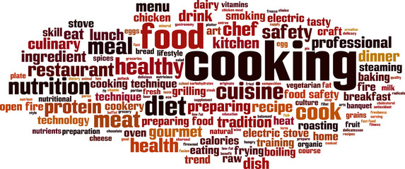 Cooking word cloud concept. Vector illustration