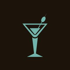 Glass of martini icon