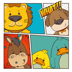 Pets and animals cartoons