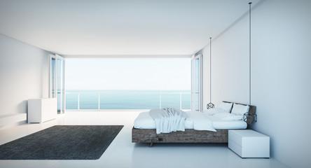 Minimal Bedroom on sea view