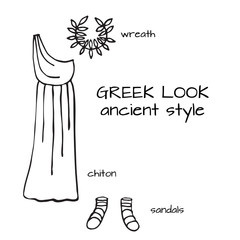 doodle greek look ancient style