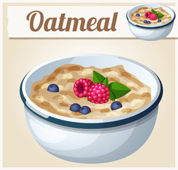 Oatmeal. Cartoon Vector Icon