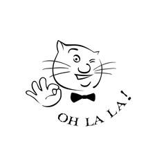 The cat says Oh La La !