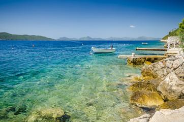 Adriatic sea bay rock near Slano, Croatia