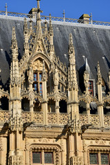 France; the picturesque law court of Rouen in Seine Maritime