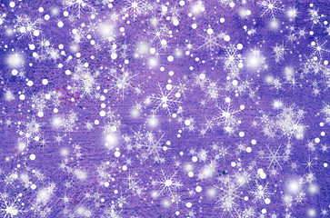 christmas background with snowflakes in winter