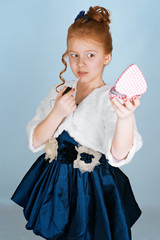 Redheaded fashionista