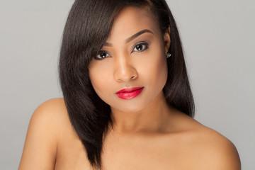 Portrait of Beautiful African American Thai Woman