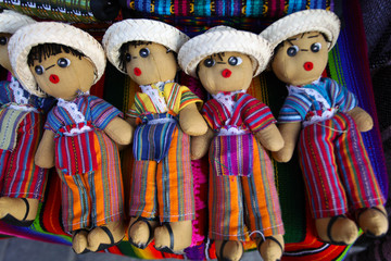 Colorful Guatemalan traditional Worry Dolls