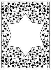 Star of David on a floral background