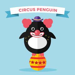 Cartoon penguin character vector illustration