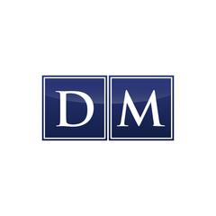 Letter Initial Logo DM