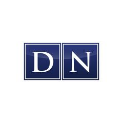 Letter Initial Logo DN