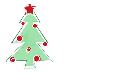 christmas tree child's drawing style