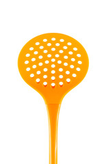 orange spoon strainer