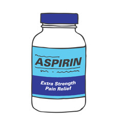 Aspirin Bottle for when you Get Hurt or Sick on the Job or Have Back Pain or Even a Simple Headache. The Capsules, Gel Tabs, or Tablets will Make Feel Healthy and Strong. The Drug Relieves Pain!