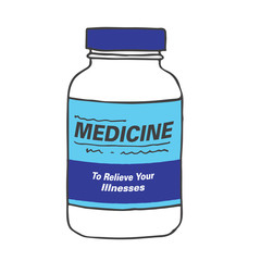 Medication Bottle for when you Get Hurt or Sick on the Job or Have Back Pain or Even a Simple Headache. The Capsules, Gel Tabs, or Tablets will Make Feel Healthy and Strong. The Drug Relieves Pain!