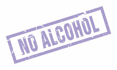 Vector No Alcohol Rubber stamp