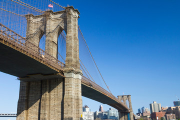 Printed kitchen splashbacks Brooklyn Bridge Brooklyn Bridge and Skyline