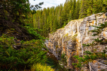 Over the centuries the Maligne River carved out the Maligne Canyon in Jasper National Park in the Canadian Rockies