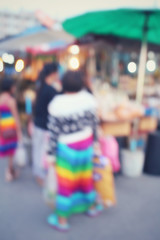 Blurred of asia market
