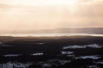 Lapland landscape aerial