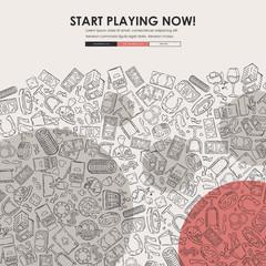 casino Doodle Website Template Design