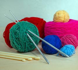 yarn for knitting needles, close-up