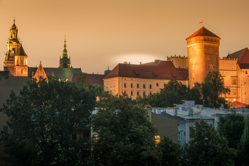 Wall Mural - Krakow, Poland: Wawel Castle in the sunset