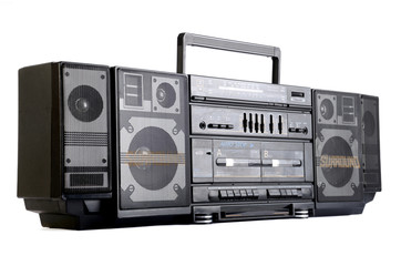 Hip hop surround sound radio isolated on white