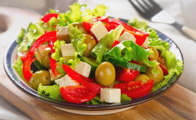 Fresh greek  salad with feta