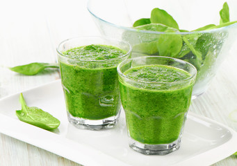 Healthy green  spinach smoothie.