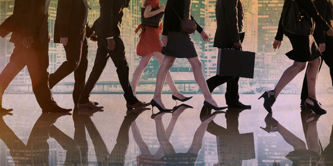 Business People Corporate Walking City Concept