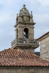 Bell tower of Domaio village. It is a small village which is part of the municipality of Moana, in the Vigo estuary, Galicia, Spain.