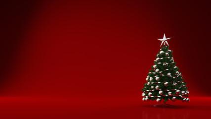 Grüner Tannenbaum mit Stern zu Weihnachten