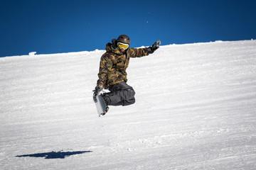 Fototapete - snowboarder trick