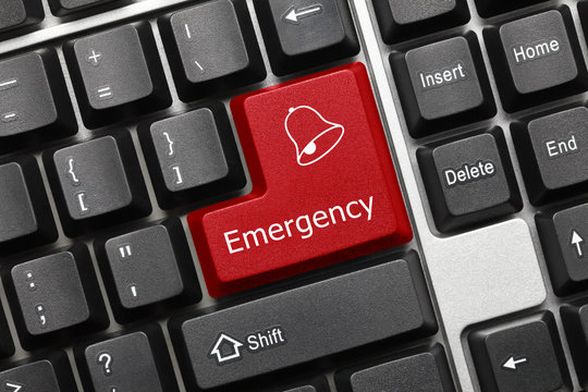 Conceptual keyboard - Emergency (red key)