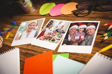 Office supplies and blank instant photos