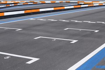 karting track circuit.
