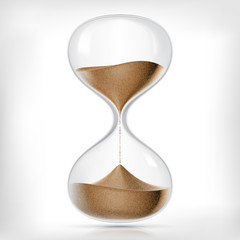 Vector transparent sand hourglass