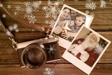 Composite image of family christmas portrait