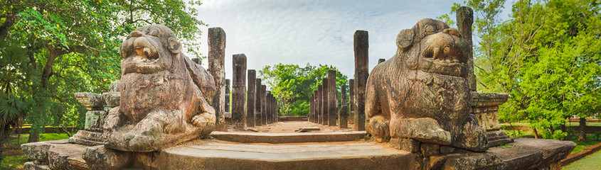 The Council Chamber, Polonnaruwa, Sri Lanka. Panorama