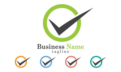 Checkmark Icon Logo Vector With Five Color Options