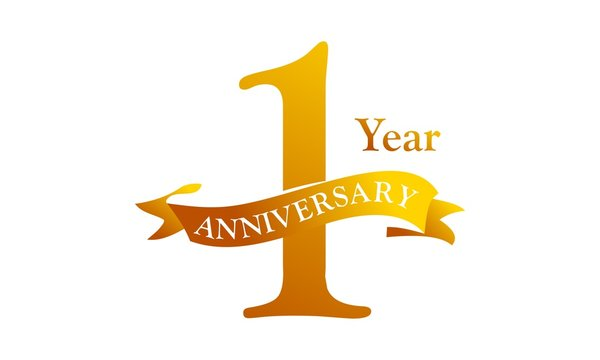 1 Year Ribbon Anniversary